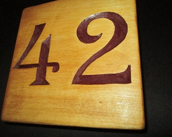 House number, hand carved, chip carving, wood carving, wood working, handmade, decor