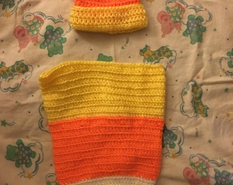 Candy Corn hat and cocoon