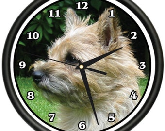 Cairn Terrier Wall Clock Dog Doggie Pet Breed Gift