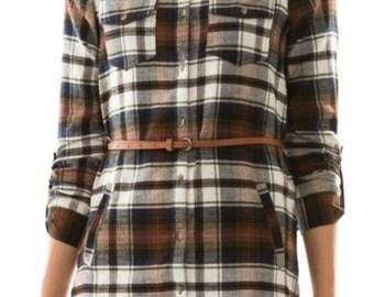 Women's Plaid Flannel Dress
