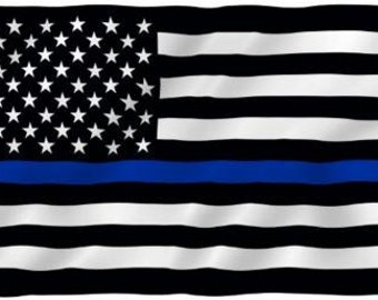 USA United States Flag 3x5 3 x 5 3' x 5' Thin Blue Flag Police Support US