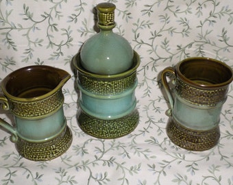 Sugar and Creamer Set/ Green /