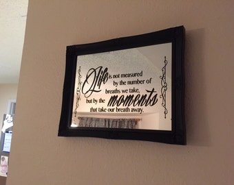 Personalized Vinyl Mirror Quote