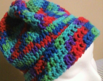 Crotched Multicolored Cuffed Hat