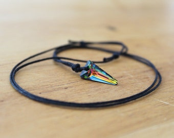 Swarowski crystal necklace iridescent, choker