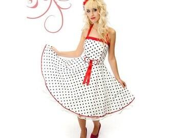 Petticoat dress white red