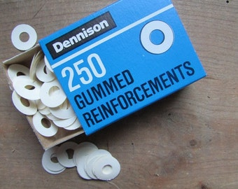Dennison Vintage Page Reinforcements Gummed 250 in the Box