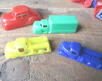 Little Cars Set of 6 Vintage Plastic Cars