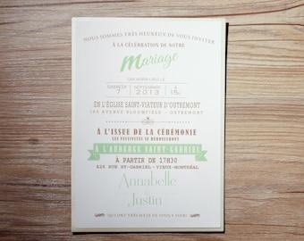 Mint Wedding Invitation, Mint Wedding Invitations, Mint Invitation, Mint Invitations, Mint Green Wedding Invitation, Mint Green Invitations