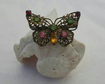 Brass Butterfly Pin