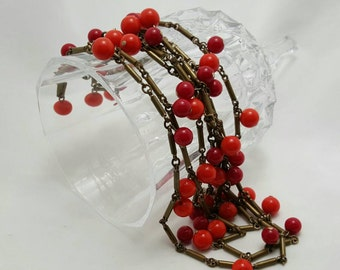 Glass Dangle Necklace