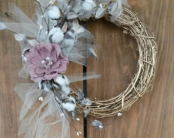 Southern Charm Cotton/Tulle Wreath
