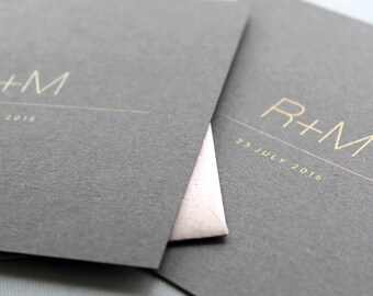 Our Love - Metallic Gold Wedding Invitation Package