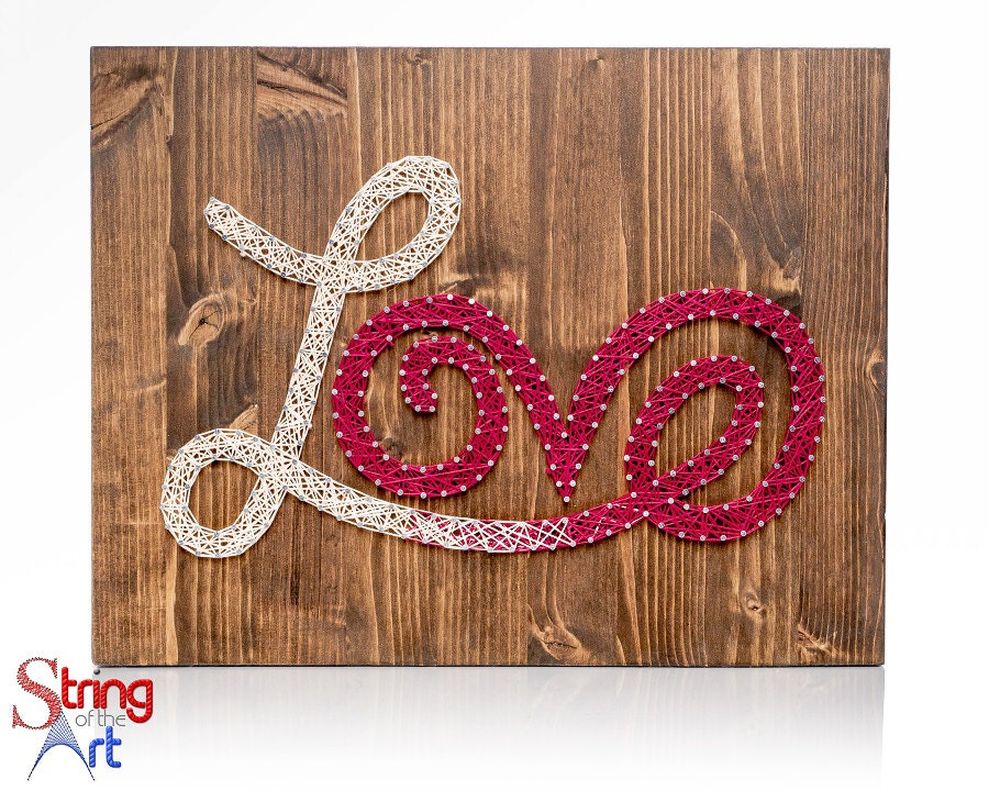 String art crafts kit love sign diy kit diy decor love for String craft patterns