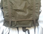 Vintage Army Green French DayPack Army Backpack Semi-Waterproof Military Rucksack