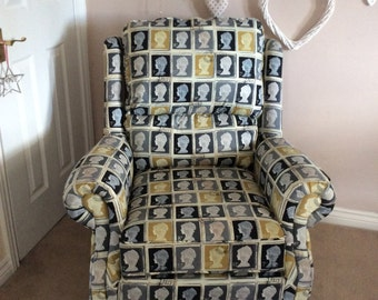 Traditional Upholstered Armchair