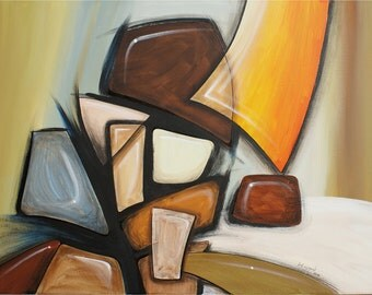 Original Abstract Art, Series R: Stones 2