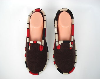 Red Wool Womens Slippers, Slippers for women, Ladies Slippers, House Slippers, House Shoes, Slippers Women, Gift for women, Adult Slippers