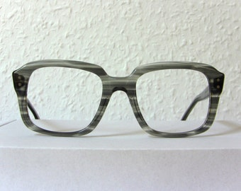 Greytone Heavy Horn Frame Eye Glasses Eyewear Men Women Eyeglasses FREE SHIPPING Rx 80's Square