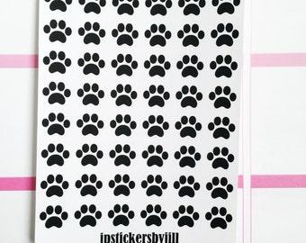 Mini Paw Print Stickers- Matte