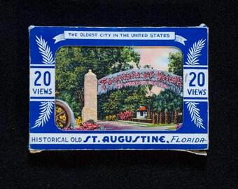 Souvenir Views | Vintage Postcard Pack | St. Augustine, Florida | 20-postcards
