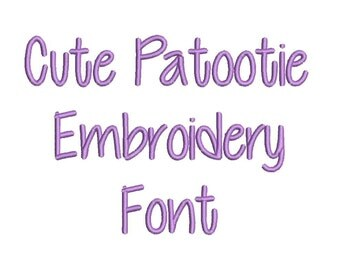 3 Size CutiePatootie  Embroidery Font Embroidery Designs, BX fonts Machine Embroidery Designs - 9 File Fomats - INSTANT DOWNLOAD