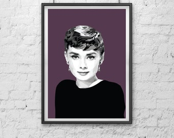 Audrey Hepburn II A5 A4