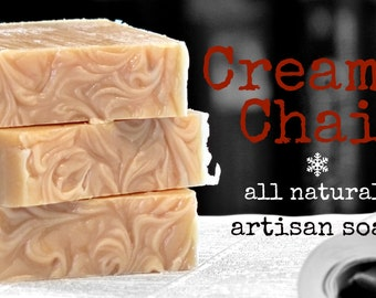 Creamy Chai Goat's Milk Face and Body Bar/Natural Soap/Goat's Milk Soap/Clove Soap