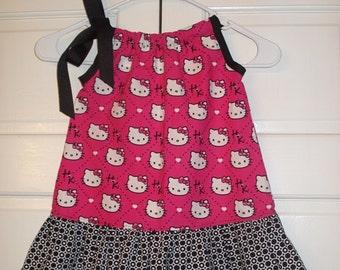 HELLO KITTY RUFFLED Pillowcase Dress size 2T