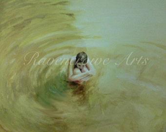 Girl in Water Print