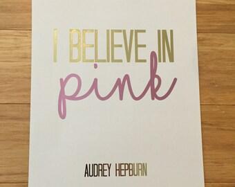 Audrey foil print