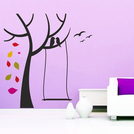 birds on a branch tree wall decal nursery tree wall decal jc design all our dreams can come true motivational