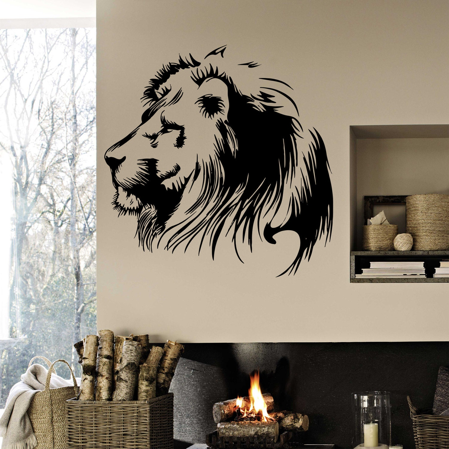 Lion the king Wall decal Lion wall vinyl Wild animals wall