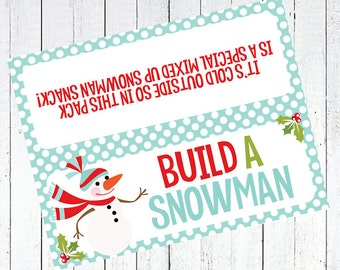 build a snowman bag toppers printable - Build A Snowman Bag Toppers Printable