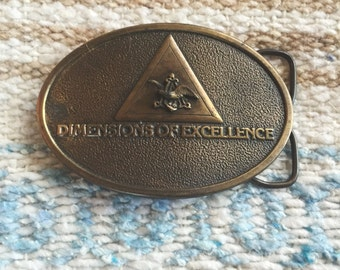 "Vintage 1970's ""Dimensions of excellence"" Budweiser belt buckle"