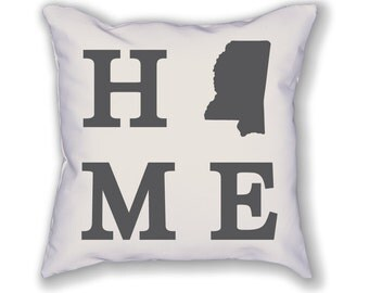 Mississippi Home State Pillow