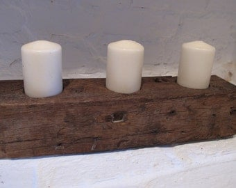 Rustic wooden Candle holder.