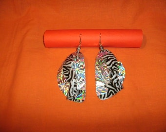 EARRINGS made from CONTACT PAPER