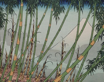 Hokusai Katsushika(葛飾北斎筆) 1760-1849 The early spring scenery of Mt.Fuji from Meguro. Ukiyo-e  Woodblock  Prints