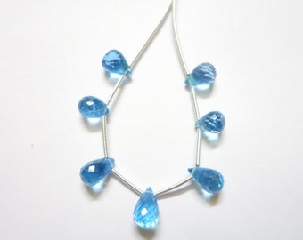Swiss Blue Topaz Faceted Drops