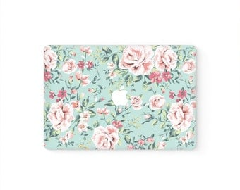 MacBook Top Front Lid Cover MacBook Decal MacBook Skin MacBook Sticker Air/Pro/Retina Touch Bar 11 12 13 15 17 inch | Pink Flowers