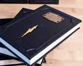 Custom leather bound Harry Potter set with magnetic Horcrux bookmarks