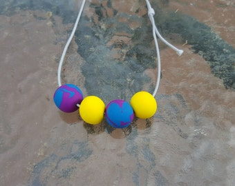 Hand Made Bright Pop Polymer Clay Necklace