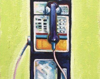Little Pay Phone on Green