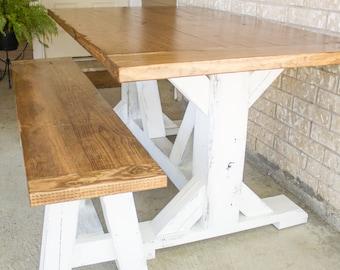Trestle X-Leg Dining Table
