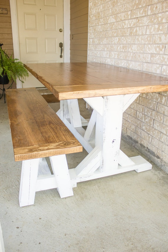 trestle x leg dining table