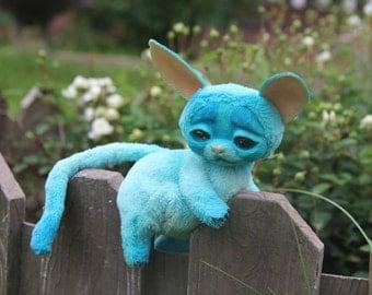 Fantasy Animal Toy Fantasy Creature Sky Blue Turquoise Sea Fennek Fox Keepsake Stuffed Toys Collectible Stuffed Animal Fantasy Animal Toy