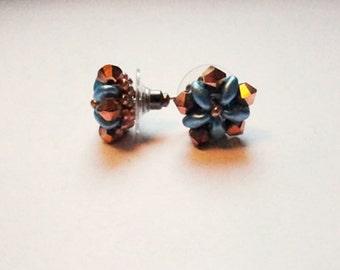 Earrings blue flowers
