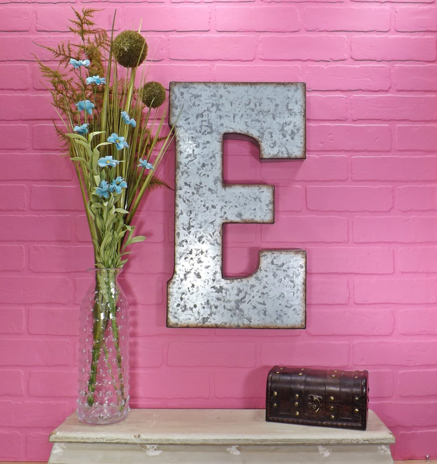 Large Metal Letter/ 20 Inch Metal Letter/ Wall Decor/