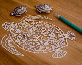Original Papercut Turtle